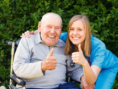 Bella Home Care - Carer Having a Laugh With Her Patient